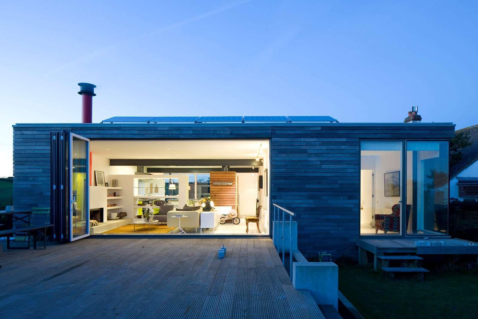 decking from bi fold doors